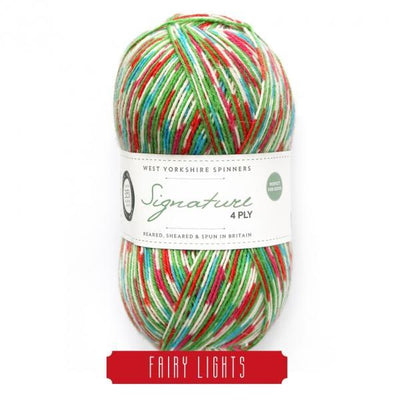 Signature 4Ply Christmas Sock Yarn West Yorkshire Spinners Yarn
