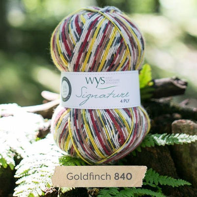 Signature 4Ply Sock Yarn - Country Birds West Yorkshire Spinners Yarn Goldfinch 840