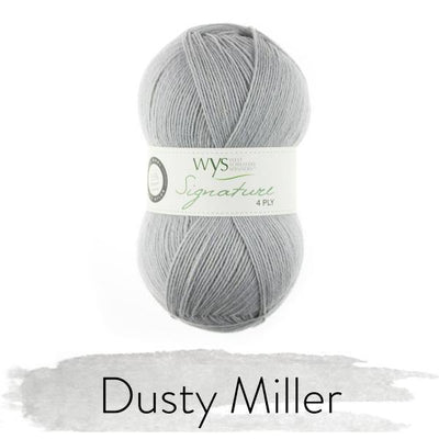 Signature 4Ply Sock Yarn - Solids West Yorkshire Spinners Yarn Dusty Miller 129