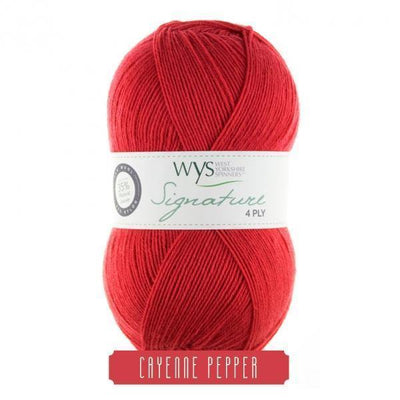 Signature 4Ply Sock Yarn - Spice Rack Solids West Yorkshire Spinners Yarn Cayenne Pepper 510