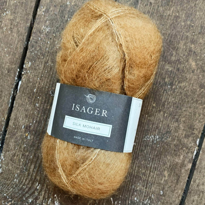 Silk Mohair Isager Yarn in Brown