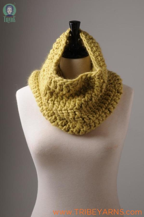 Simple Cowl CROCHET Pattern Mrs Moon Pattern