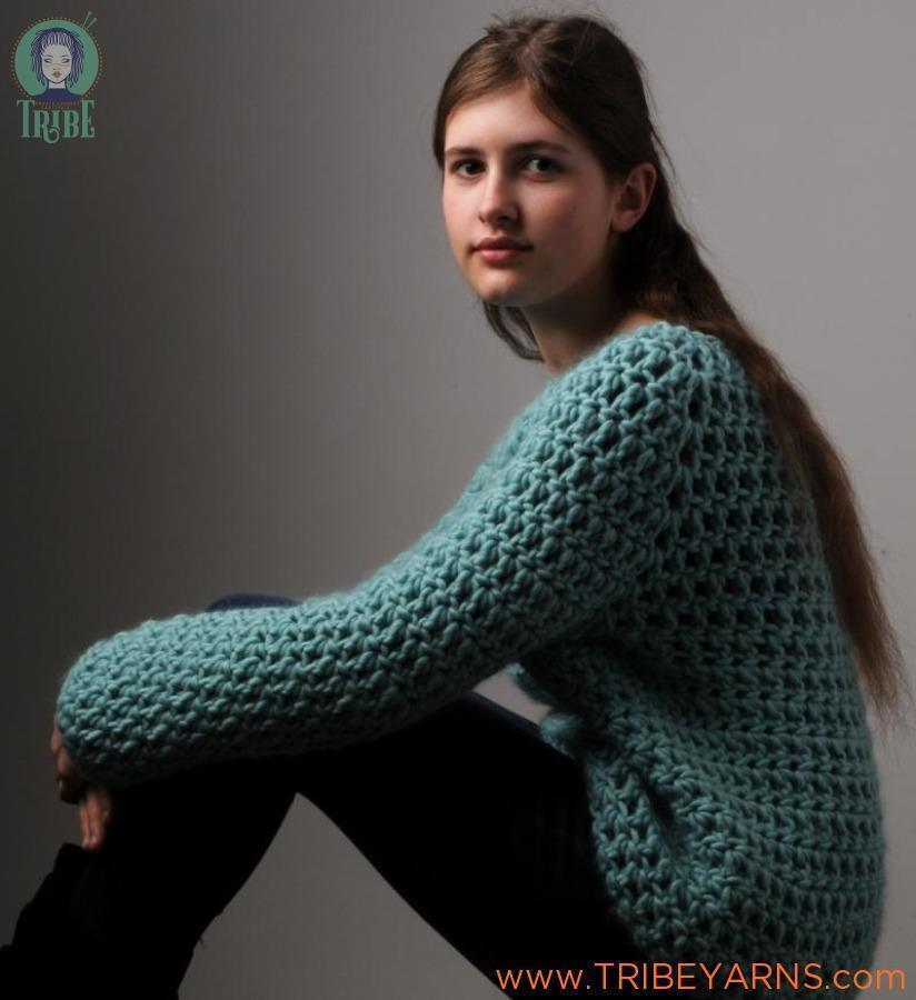 Simple Jumper CROCHET Pattern Mrs Moon Pattern