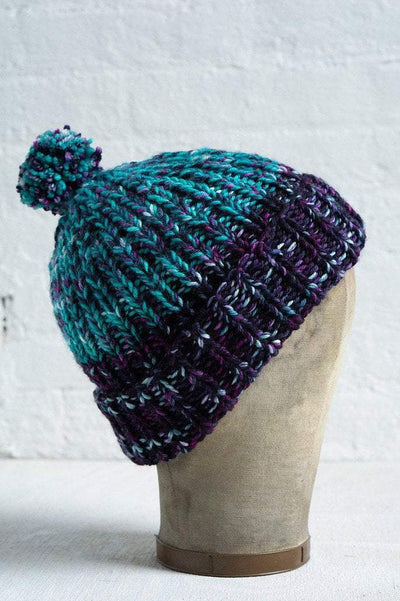 Simple Ribbed Hat Pattern Manos del Uruguay Pattern