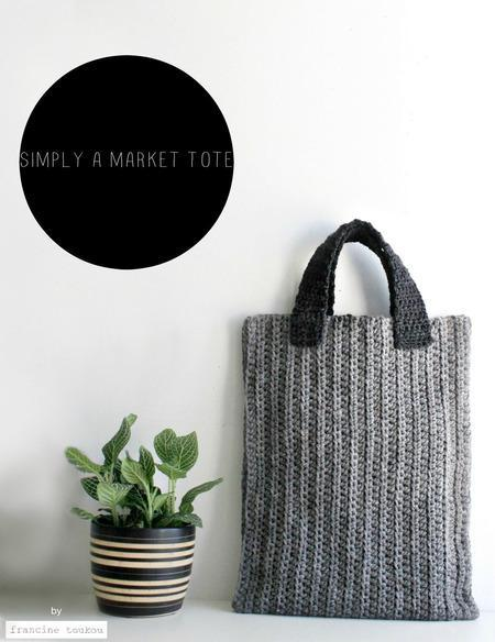 Simply a Market Tote Crochet Pattern tribeyarns Pattern