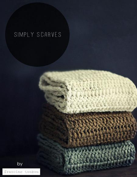 Simply Scarves Crochet Pattern tribeyarns Pattern