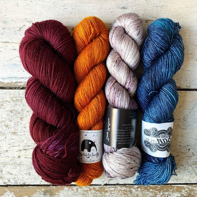 Slipstravaganza Westknits 2020 MKAL Kit tribeyarns Kits & Combos 20,000+Mallow+Cinnamon+Oxblood / With Pattern