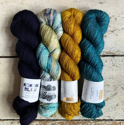 Slipstravaganza Westknits 2020 MKAL Kit tribeyarns Kits & Combos Kokon+Sacred+GoldenC+Utopia / With Pattern