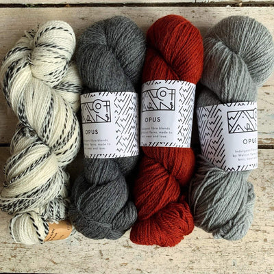 Slipstravaganza Westknits 2020 MKAL Kit tribeyarns Kits & Combos Zebra+Castlerock+Cinnabar+Grey / With Pattern