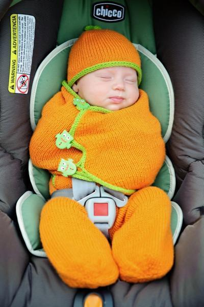 Snugglebug Car Seat Cozy Pattern Tot Toppers Knitting Pattern