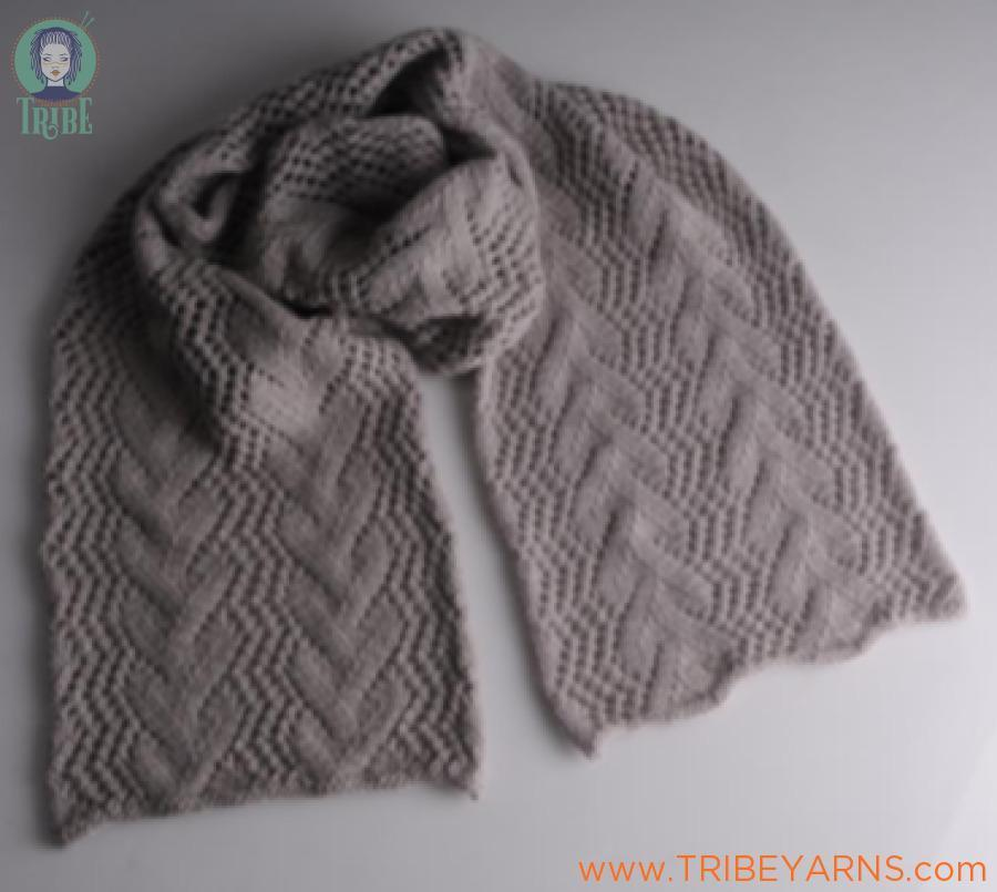 Snuggly Lace Scarf Pattern Mrs Moon Knitting Pattern