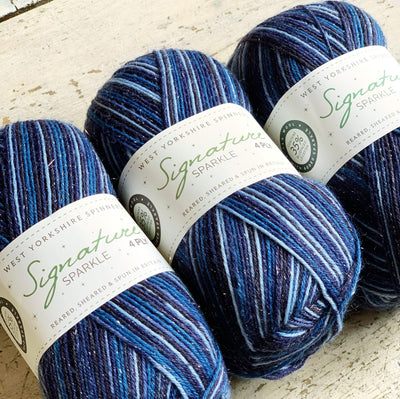 Sparkle Silent Night 4Ply Christmas Sock Yarn West Yorkshire Spinners Yarn Yarn