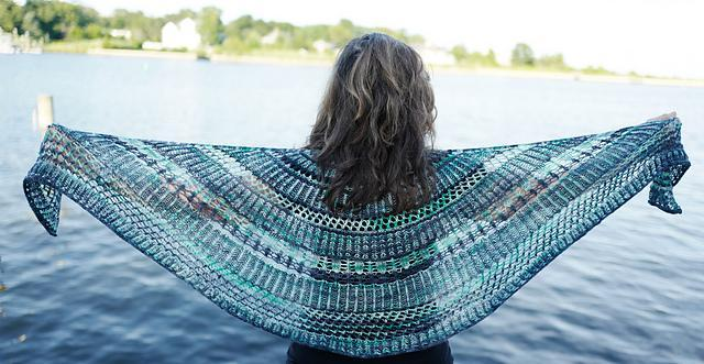Stained Glass Brioche Shawl Pattern Artyarns Pattern