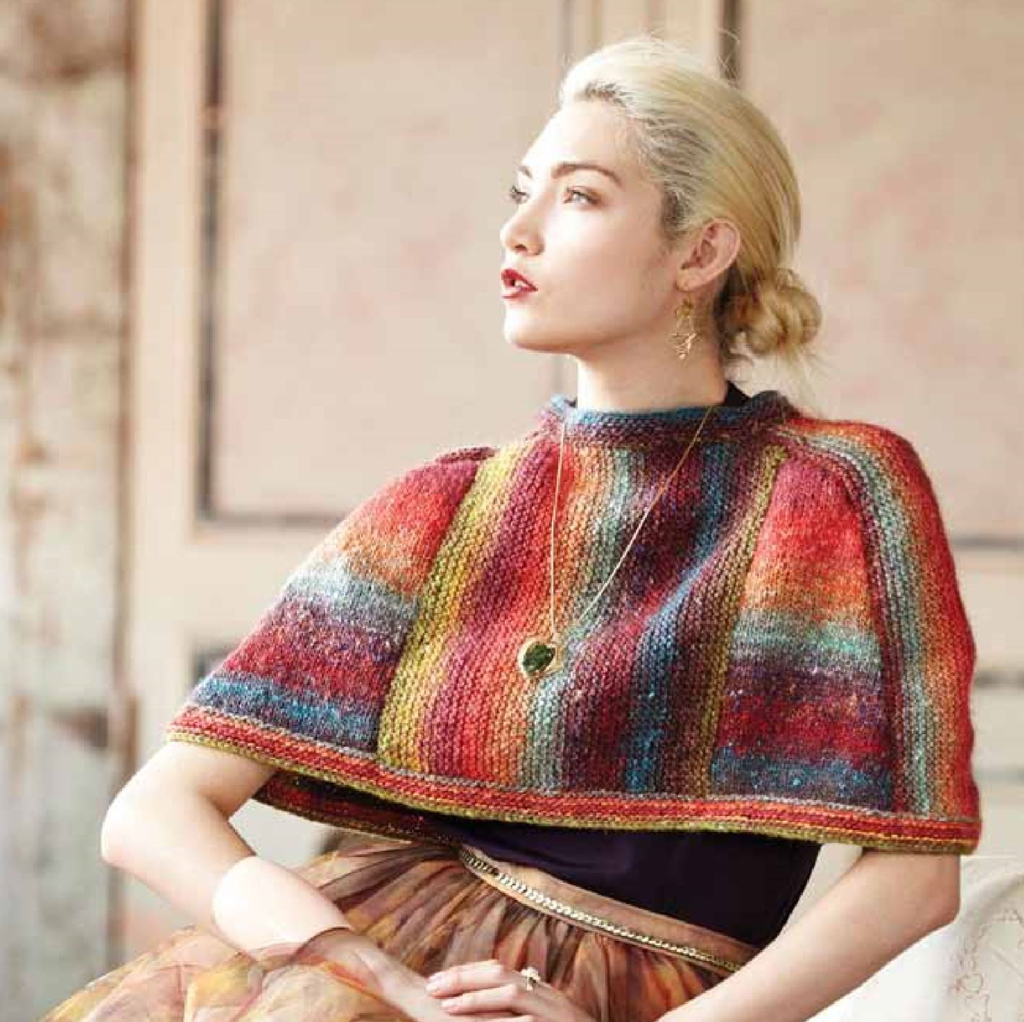 Steeked Capelet Pattern by Noro Noro Pattern