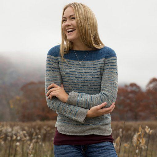 Stream Pullover Pattern Swans Island Knitting Pattern