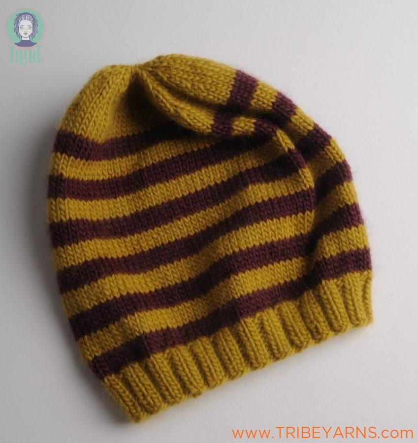 Stripey Beanie Pattern Mrs Moon Knitting Pattern