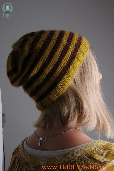 Stripey Beanie Pattern Mrs Moon Pattern