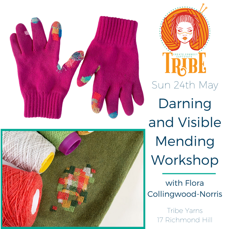Sun 24th May: Creative Mending with Embroidery tribeyarns Event