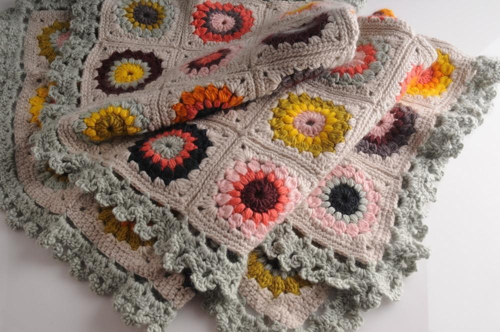 Sunburst Granny Blanket CROCHET Pattern Mrs Moon Pattern