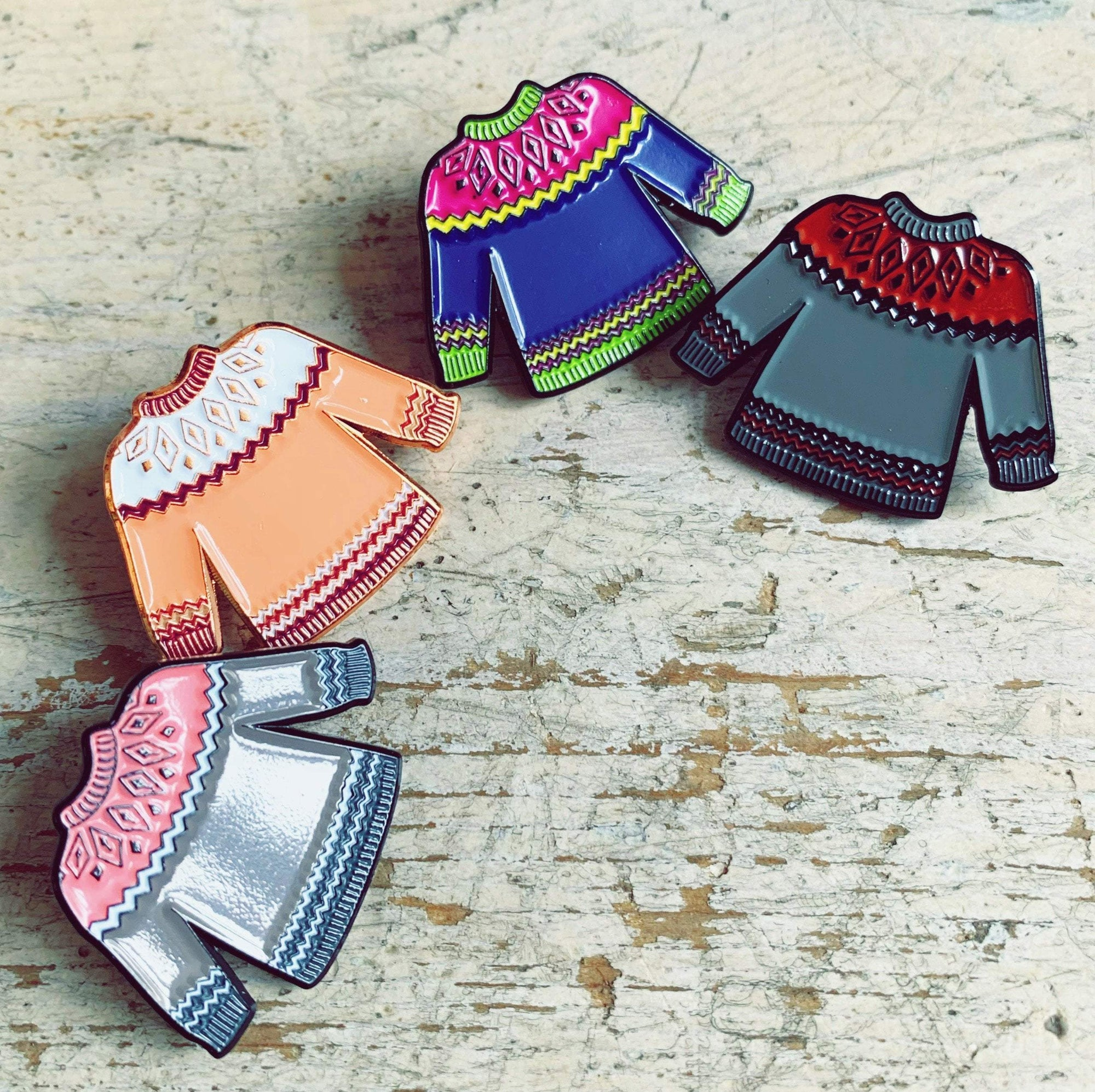 Sweater Enamel Pin Hartiful Pins & Needles