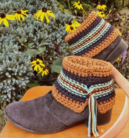 Swift Kick Boot Cuffs Crochet Pattern tribeyarns Pattern