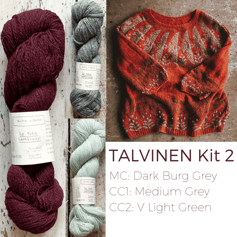 Talvinen Sweater Kit Biches & Bûches Yarn