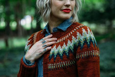 The Throwback Cardigan Pattern by Andrea Mowry baa ram ewe Pattern