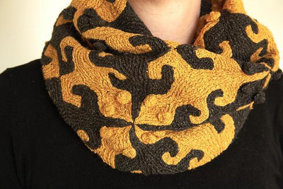 Tiling Lizard Loop Scarf and Cushion Cover Pattern Jana Huck Pattern