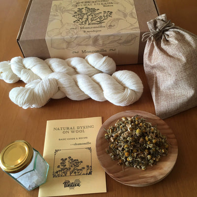 Tintica Natural Dye Kits - Chamomile Tintica Yarn Two Skeins