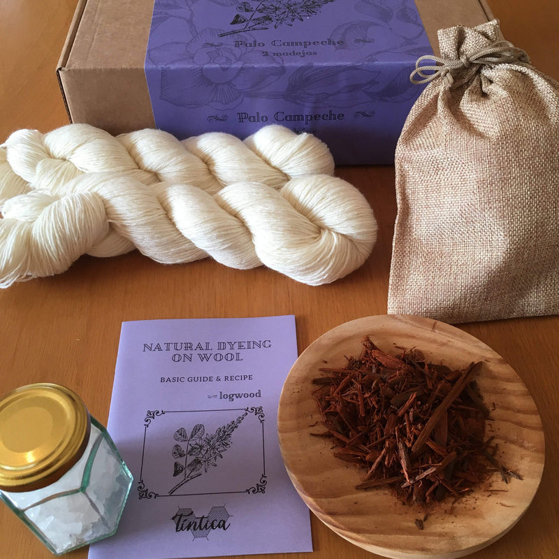 Tintica Natural Dye Kits - Logwood Tintica Yarn One Skein