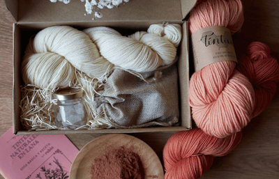 Tintica Natural Dye Kits - Madder Tintica Yarn One Skein