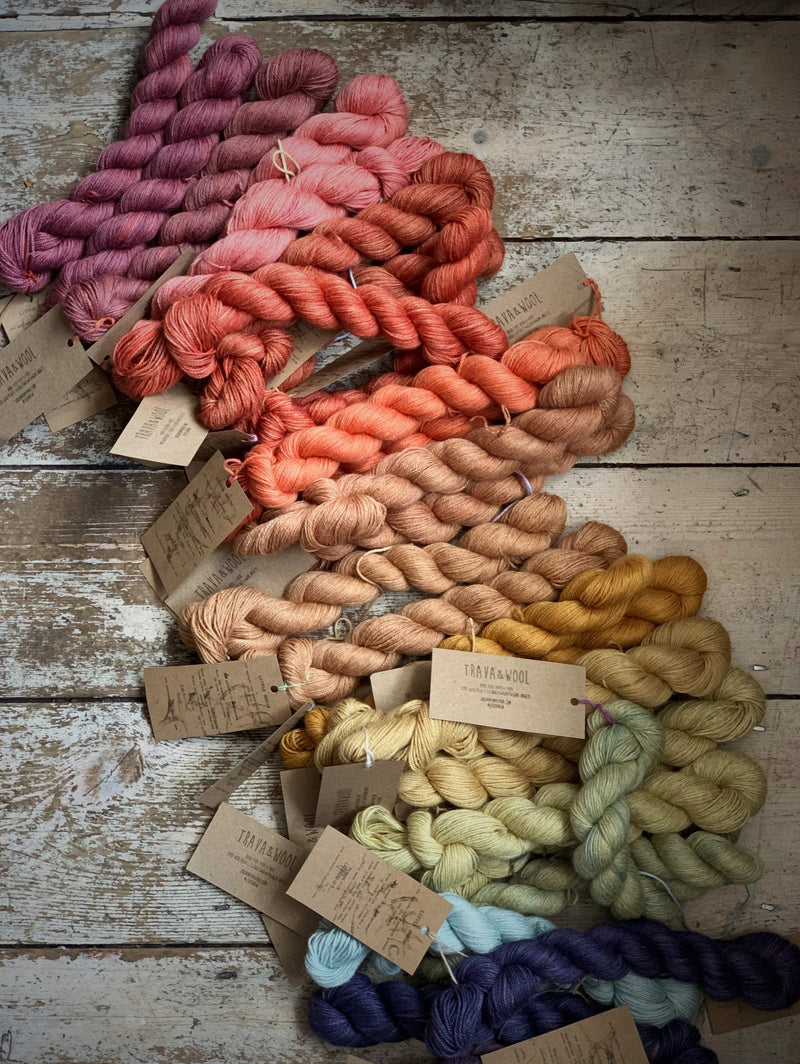 Trava Alpaca+Silk+Cashmere Mini Skeins Trava & Wool Yarn Logwood 2.1 ASC