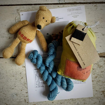 Trava Toy Animal Knit Kits Trava & Wool Kits & Combos Blue Bear