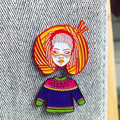 Tribe Girl Enamel Pin Hartiful Pins & Needles