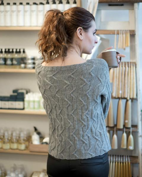 Twisted Tracks Jumper Pattern Walcot Yarns Knitting Pattern