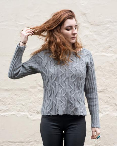 Twisted Tracks Jumper Pattern Walcot Yarns Pattern