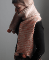 Two Colour Moss Stitch Scarf Pattern Mrs Moon Pattern