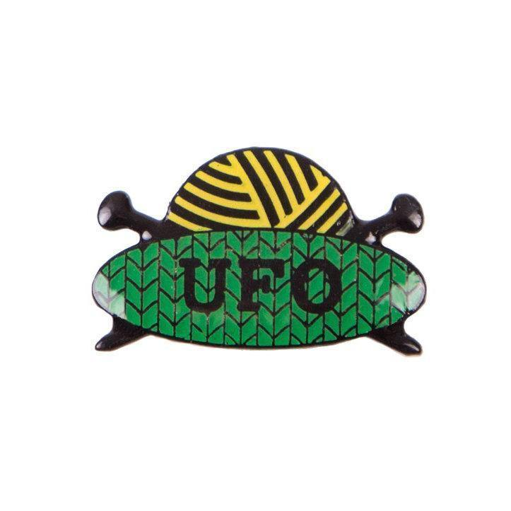 UFO Enamel Pin Badge Sue Stratford Pins & Needles