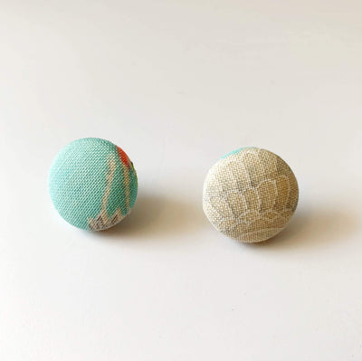 Vintage Kimono Silk/Cotton Earrings Yoko of Richmond Other Stuff Pastel Aqua