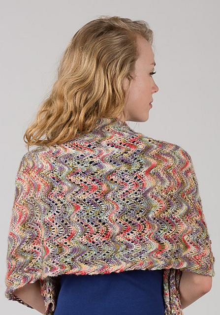 Watercolour Shawl Pattern Artyarns Pattern