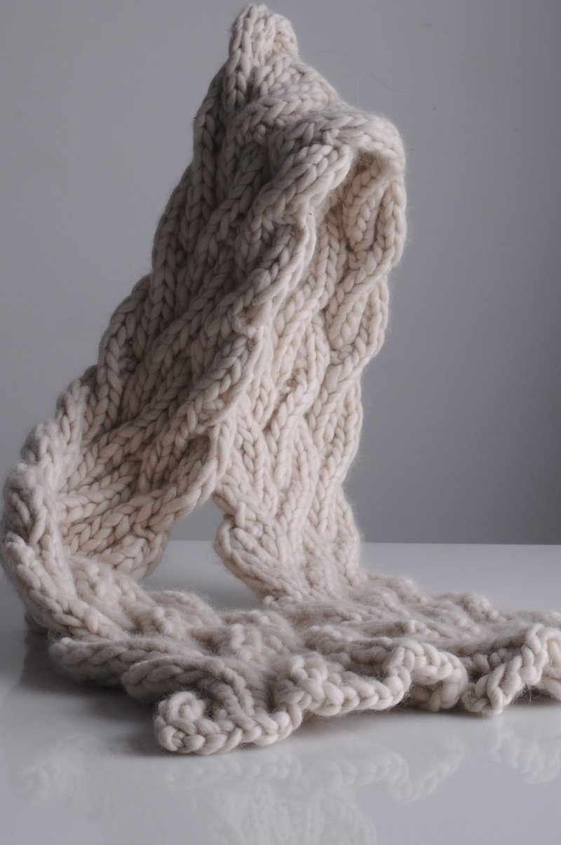 Wavy Cable Scarf Pattern Mrs Moon Pattern