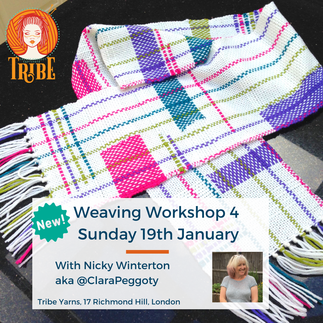 Weaving Workshop 4, Sunday 19th January tribeyarns Event