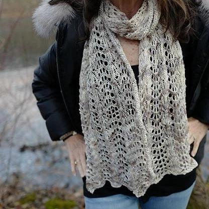 Winter Wonderland Lace Scarf Pattern Yarntelier Pattern
