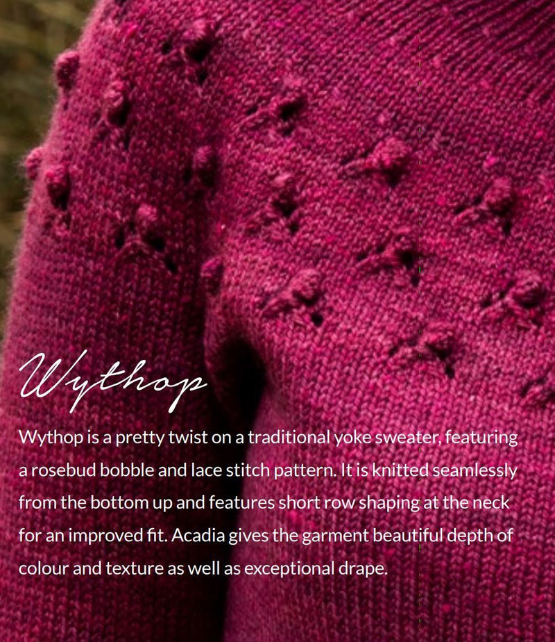 Wythop Sweater Pattern The Fibre Co Pattern