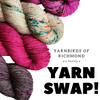 Yarnbirds of Richmond Knitting Group YARN SWAP tribeyarns