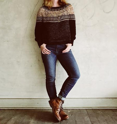 Zweig Sweater Pattern by Caitlin Hunter tribeyarns Pattern