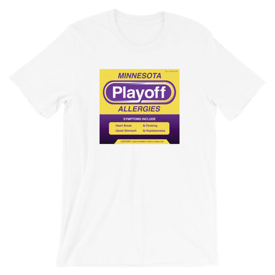 Minnesota Playoff Allergies T-Shirt Vikes Colors