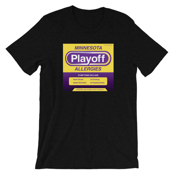 Minnesota Playoff Allergies Men's T-Shirt Vikes Colors