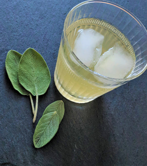 Summer Fresh Sage Ice Tea Drink
