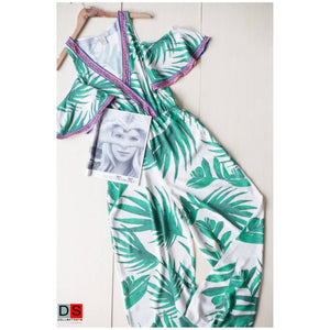 DS Collection Women  Palm Tree Leaves Printed Jumpsuit Nepal